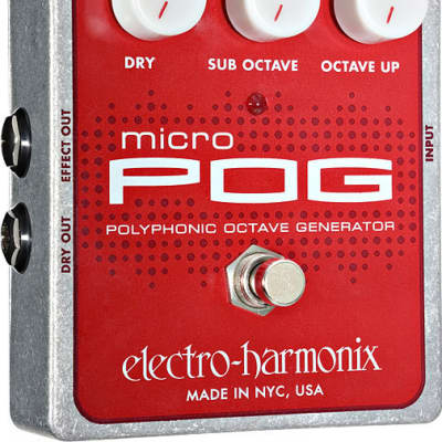 Electro Harmonix Micro POG XO Polyphonic Octave Generator for sale