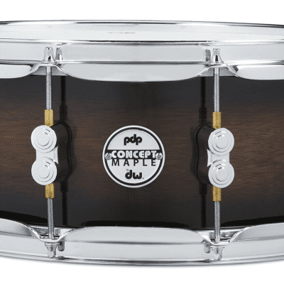 PDP Concept Series Maple Exotic Snare 5.5x14 - Walnut to Charcoal Burst