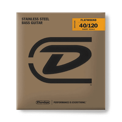 Dunlop DBFS40120S Stainless Steel Short Scale Flatwound 5-String Bass Strings - (40-120)