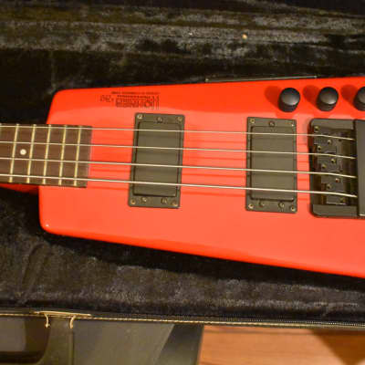 Hohner b2 Headless Bass   Red for sale