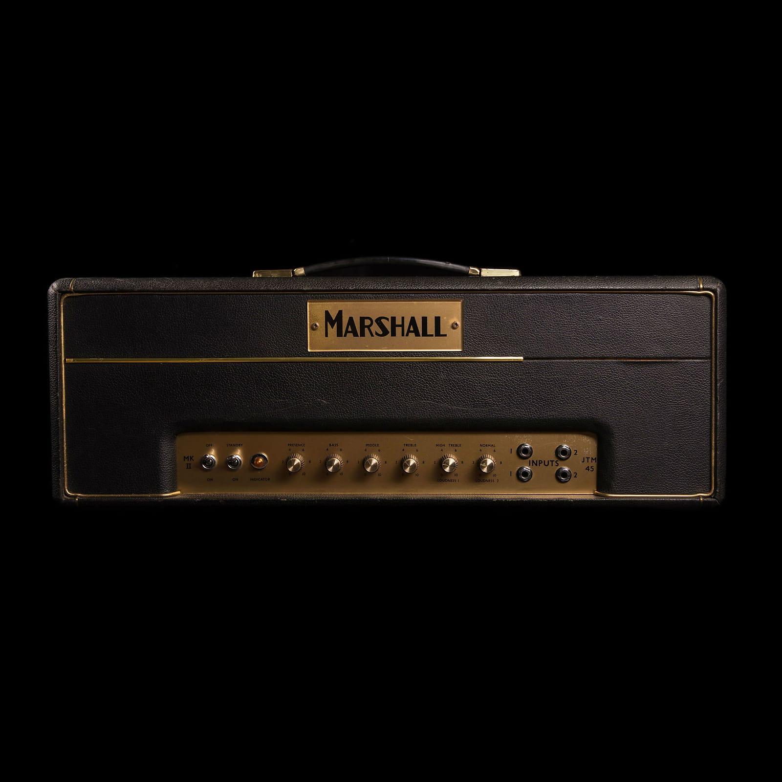 Marshall Jtm45 Mk Ii 2 Channel 45 Watt Guitar Amp Head 1963 Reverb