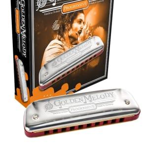 Hohner 542BL-CS Progressive Series Golden Melody Harmonica - Key of C#