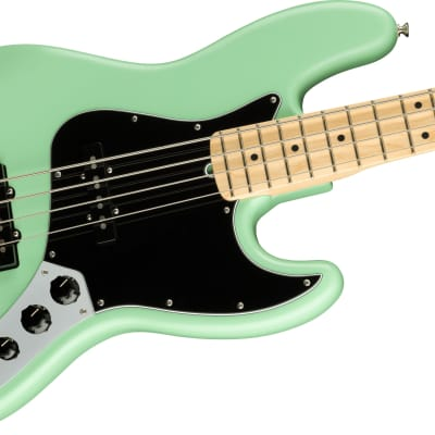 Fender American Performer Jazz Bass, Maple Fingerboard, Satin Surf Green for sale
