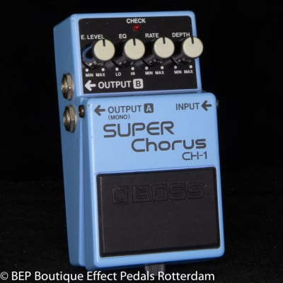 Boss CH-1 Super Chorus 1991 Blue Label s/n IC82763 Analog version with MN3007 BBD