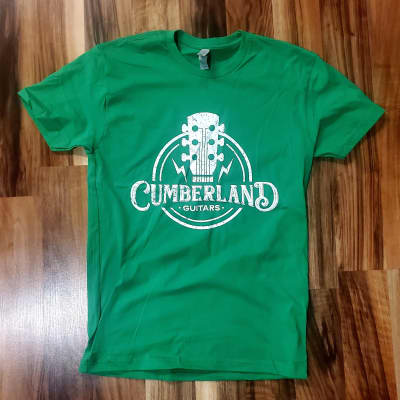Cumberland Guitars Distressed T-Shirt - Kelly Green - Medium M