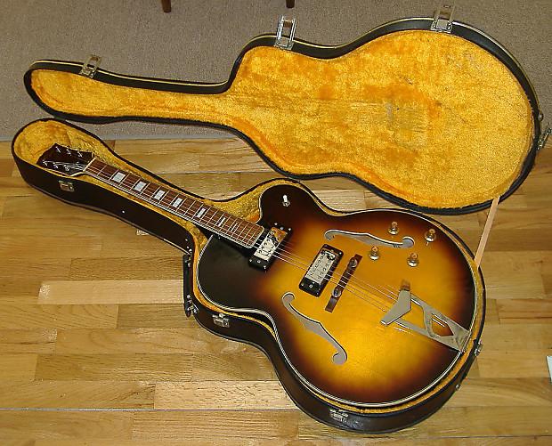 lyle l5 guitar with original case made in japan late reverb. Black Bedroom Furniture Sets. Home Design Ideas