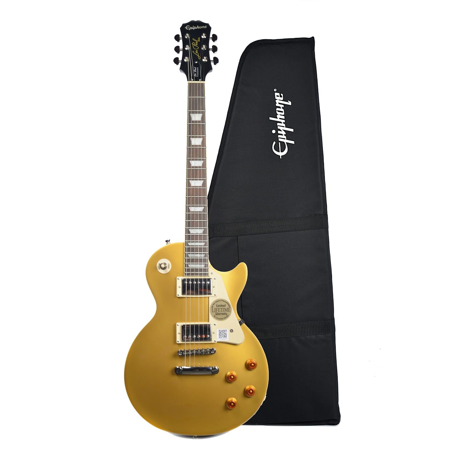 Epiphone Les Paul Standard Metallic Gold W Premium Gig Bag