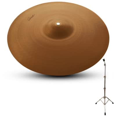 """Zildjian A Avedis 21"""" Ride Cymbal with ChromaCast Pro Series Cymbal Stand"""