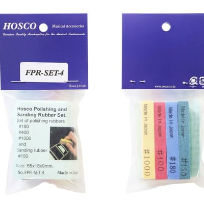 Hosco Fret Polishing Rubbers - Set of 4 for sale