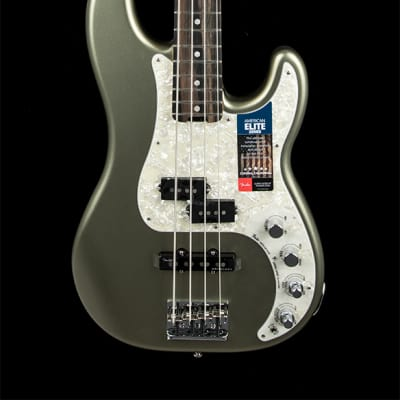 Fender American Elite Precision Bass - Satin Jade Pearl Metallic for sale