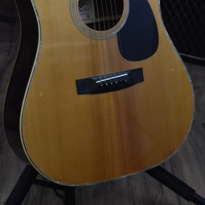 El Dégas F218 1974 Natural Gloss Acoustic Guitar for sale