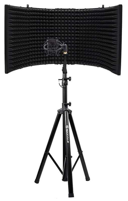 Rockville Recording Package W Tripod Microphone Mic Reverb