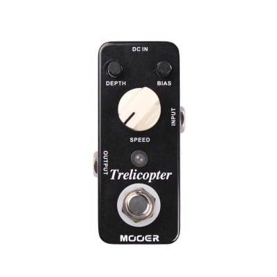 NEW MOOER TRELICOPTER Tremolo Pedal + 2 *Free* Patch Cables!