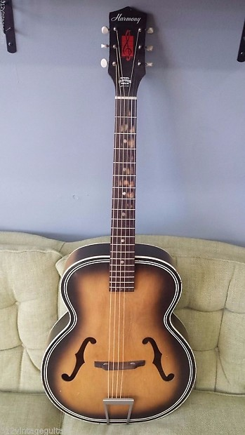 1960 39 s harmony archtop hollowbody acoustic guitar burst reverb. Black Bedroom Furniture Sets. Home Design Ideas