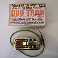 TV Jones Paul Yandell Duotron Bridge Pickup Universal Mount Chrome