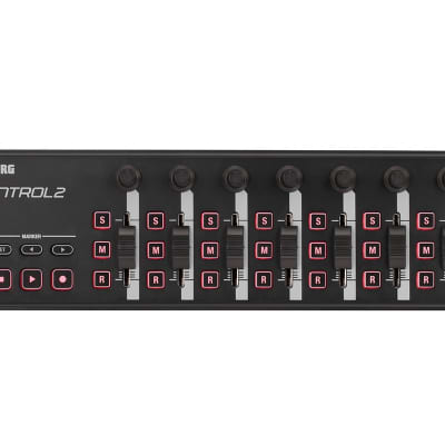 Korg nanoKontrol2-BK (Black) Slim USB MIDI Fader Controller