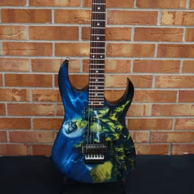 1996 Ibanez RG520 custom Mike Learn finish for sale