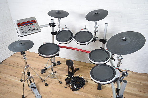 yamaha dtxtreme iis electronic drum set kit excellent used reverb. Black Bedroom Furniture Sets. Home Design Ideas