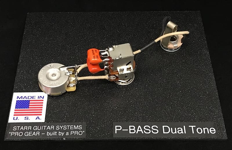 CTS Fender P- Bass Harness Upgrade System Switchcraft /& Orange Drop Cap!