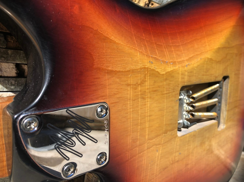 Mario Martin S Style Roasted AAA Flame Maple w/ BRAZILIAN Slab board KILLER Relic strat 1 piece body