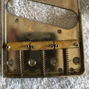 Real Life Relics vintage 50's tele telecaster bridge brass saddles aged nickel brass