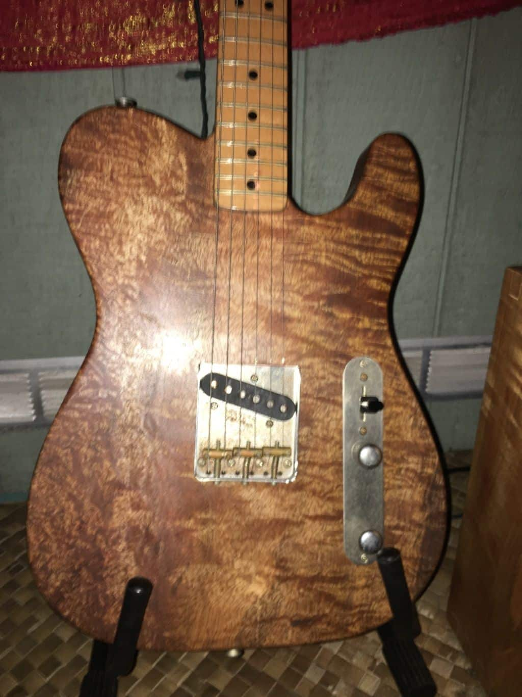Ex Fender Custom Shop Build Telecaster Esquire 2016 Curly | Reverb