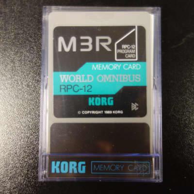 Korg M3R Memory Card PPC-12 World Omnibus 1989