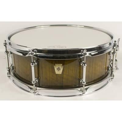 "Ludwig 5x14"" Legacy Exotic Limba Olive Burst Snare"