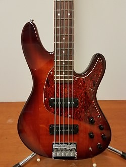 Ibanez TR Expressionist 5-String Bass 1997 Cherry Burst | Reverb
