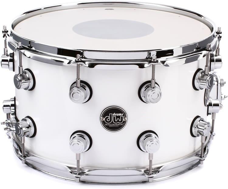 dw performance series snare drum 8 x14 white reverb. Black Bedroom Furniture Sets. Home Design Ideas