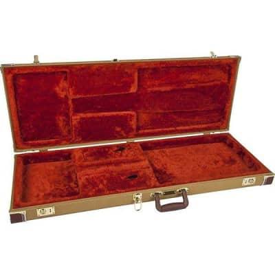 Fender® Pro Series Stratocaster®/Telecaster® Case - Tweed with Orange Plush Interior for sale