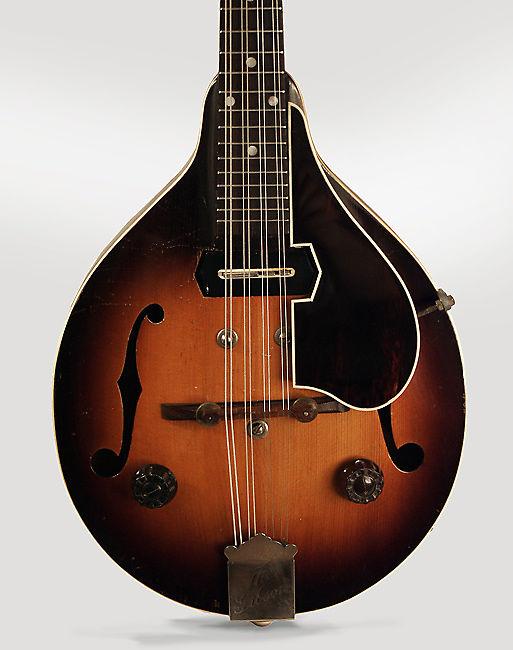 Gibson  EM-150 Hollow Body Electric Mandolin (1937), ser. #703-C-6, original tweed hard shell case.