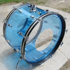 """1970s Ludwig Vistalite 14x24"""" Bass Drum with Single-Color Finish"""
