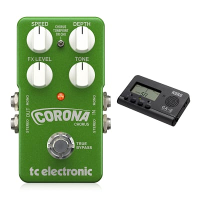TC Electronic Corona Chorus Effects Pedal w/ Korg GA-2 Tuner Bundle