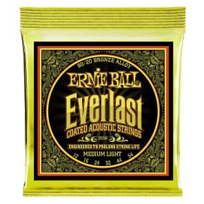 Ernie Ball 2556 Everlast Coated Medium Light Acoustic Guitar Strings, .012 - .054