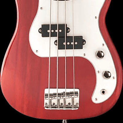 Oscar Schmidt OSB-400C-TR Precision 3/4 Size Solid Body Maple Neck 4-String Electric Bass Guitar for sale