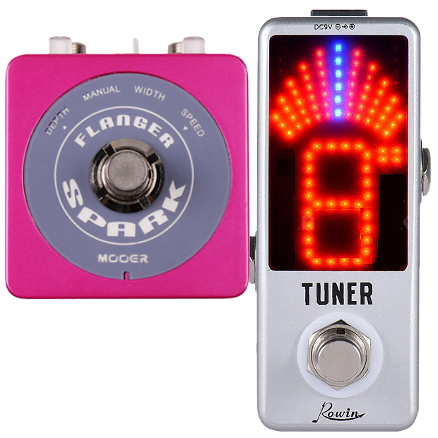 MOOER SPARK FLANGER Micro Effect Pedal & ROWIN TUNER FREE