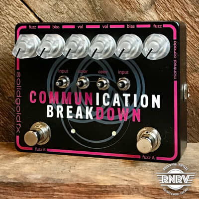 SolidGoldFX Communication Breakdown - Black & Pink Limited Edition