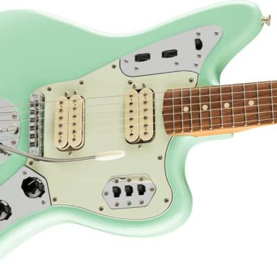 Fender Vintera '60s Jaguar Modified HH Pau Ferro Fingerboard Surf Green for sale