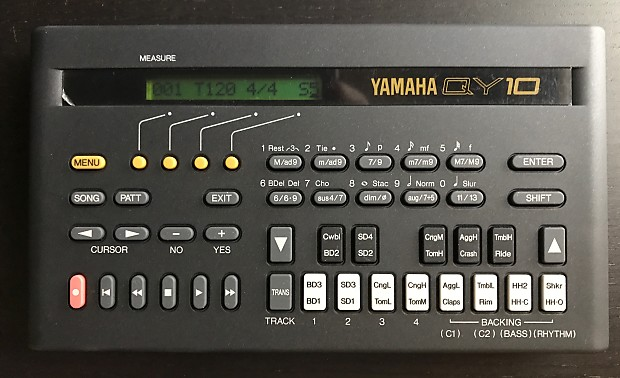 YAMAHA QY-10 sequencer / synth module w/Manuals, AC Adapter & Case - KIND'A  RARE