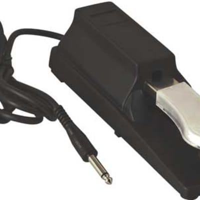 """On-Stage KSP100 Piano Style Keyboard Sustain Pedal with 6' 1/4"""" TRS Cable"""