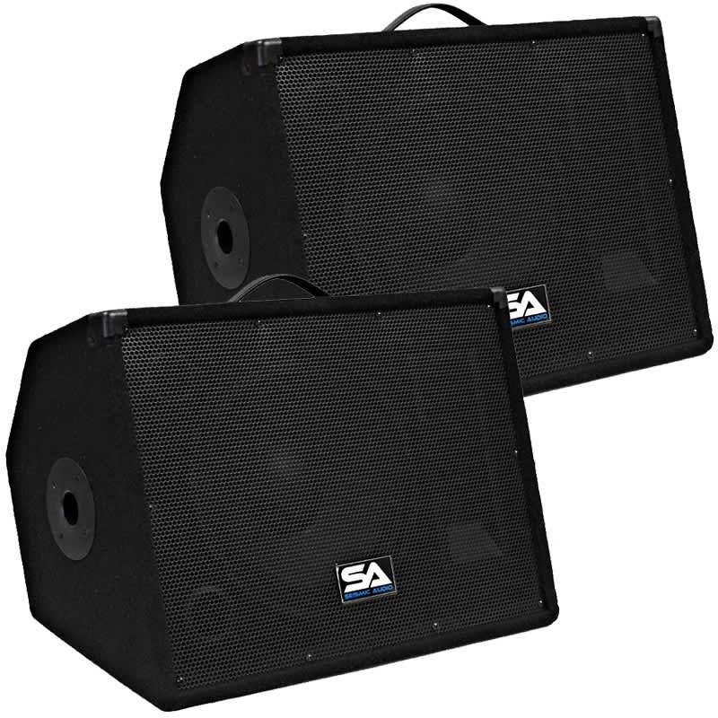 Pair 12 floor studio stage monitors new pa dj speakers for 12 floor speaker