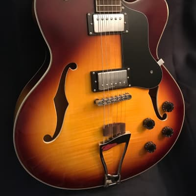 Archer Josh Rouse '1972', Excellent ES hollow body electric archtop; Circa 2002; Autumn Burst for sale