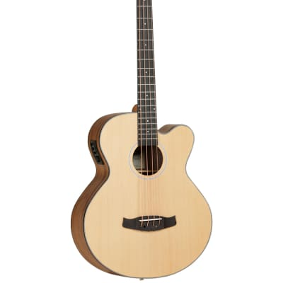 Tanglewood Discovery Exotic DBT AB BW Natural Electro Acoustic Bass Guitar for sale