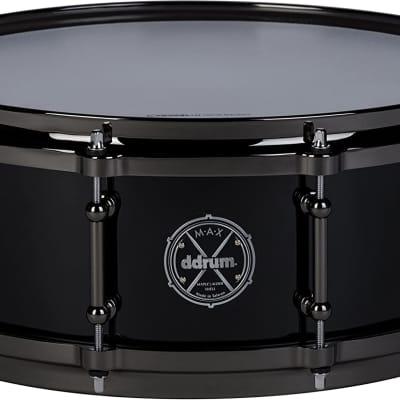 ddrum MAX Series 5x14 Snare Drum-Piano Black, (MAXSD5X14PB)