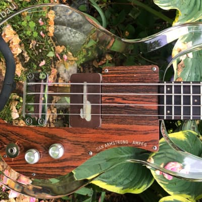 1969 Ampeg Dan Armstrong Lucite Bass Clear - HSC for sale