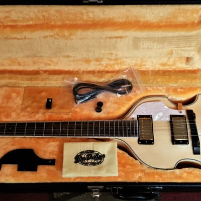 Giannini GVG-252 Violin Electric Guitar Natural with HS Case + extras! for sale