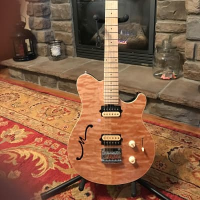 Mint Ernie Ball Music Man Semi Hollow Body Axis Super Sport 2019 Natural Quilt Maple for sale