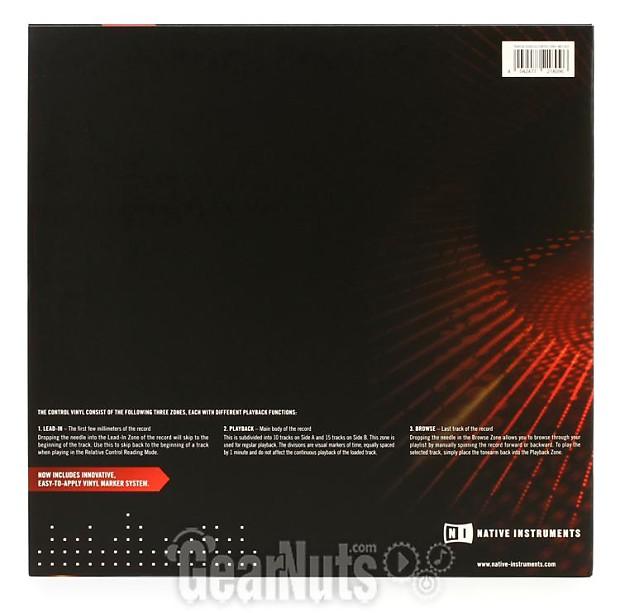 native instruments traktor scratch control vinyl mk2 red reverb. Black Bedroom Furniture Sets. Home Design Ideas