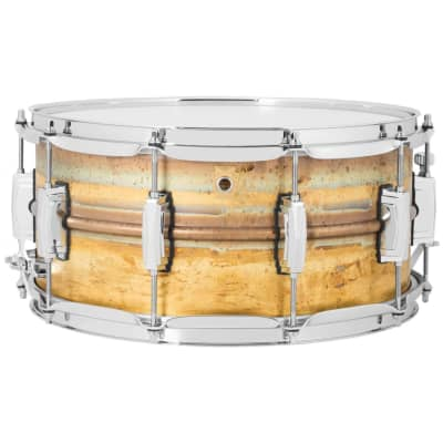 """Ludwig LB464R Raw Brass Phonic 6.5x14"""" Snare Drum"""